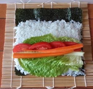 légumes sushis