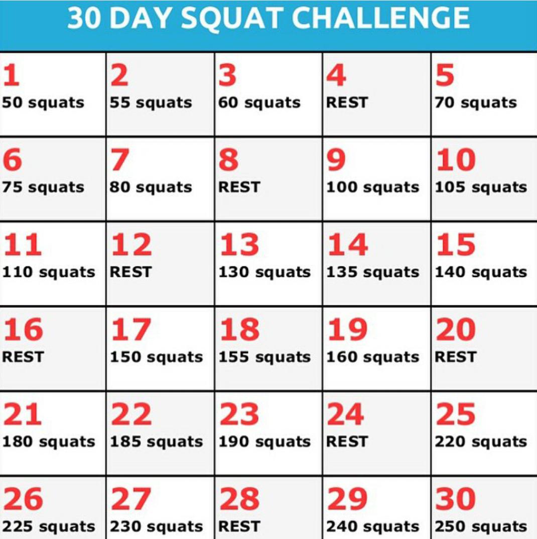 30 days squats challenge fini les fesses flasques the healfitter. Black Bedroom Furniture Sets. Home Design Ideas